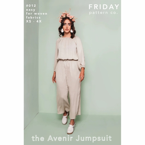 Friday Pattern Company, Sewing Pattern, Avenir Jumpsuit