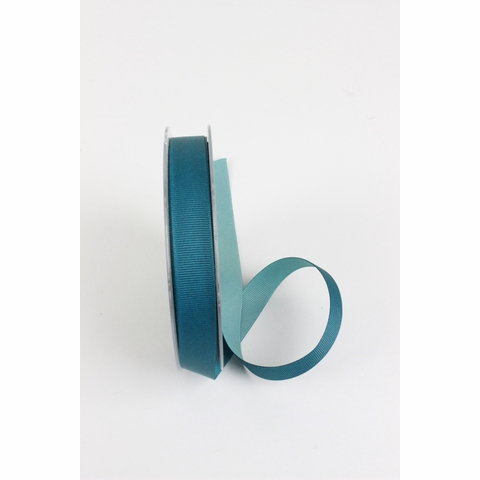 "Frou-Frou, 5/8"" Two Sided Gros-Grain Ribbon, Teal/Water"
