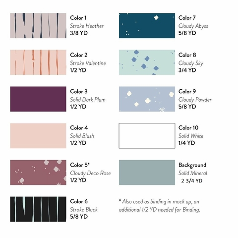 Gather At Nightfall Quilt Kit Featuring Basics From Birch Organic Fabrics