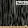 Ghazal Razavi for FIGO, Harmony Linen Blend, Strips Black
