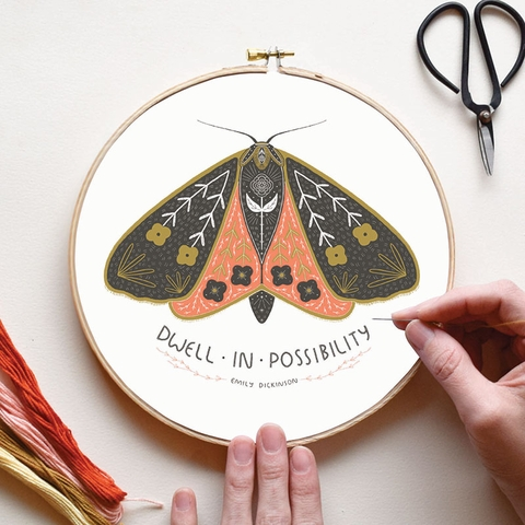 Gingiber, Embroidery Sampler, Dwell In Possibility