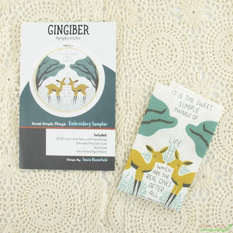 Gingiber, Embroidery Sampler, Sweet Simple Things