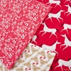Gingiber for Moda, Farm Charm, Rooster Red in FAT QUARTERS 7 Total