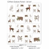 "Gingiber for Moda, Merriment, Critters Galore Multi (36"" Panel)"