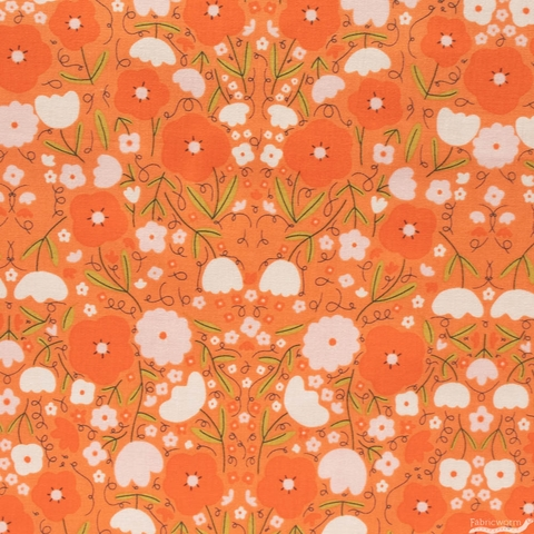Gingiber for Moda, Words To Live By, Peppy Petals Clementine