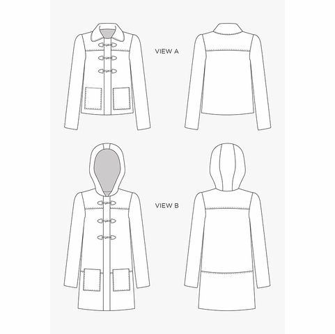 Grainline Studio, Sewing Pattern, Cascade Duffle Coat
