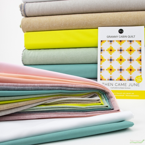 Granny Cabin Quilt Kit Curated by Meghan Buchanan of Then Came June (PRECUT)