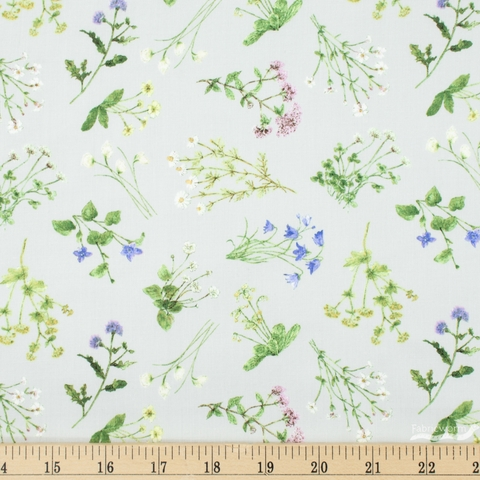 Hackney and Co. for Windham, Midsummer, Meadow Ditsy Silver