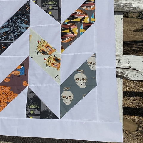 Halfway There Quilt Kit Featuring Charley Harper Halloween From Birch Organic