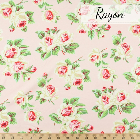 Heather Bailey for FIGO, True Kisses Rayon, Fling Pink Dream