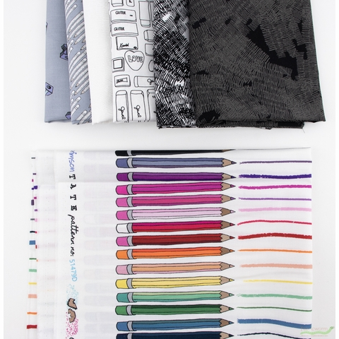 Heather Givans for Windham, Pencil Club, Studious in FAT QUARTERS 7 Total