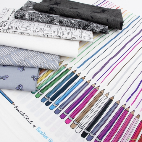Heather Givans for Windham, Pencil Club, Studious in FAT QUARTERS 7 Total(PRECUT)