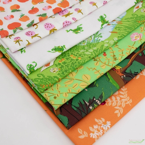 Heather Ross, 20th Anniversary Fabric Collection, Briar Rose Trail Bundle 7 Total