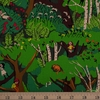Heather Ross, 20th Anniversary Fabric Collection, Climbing Trees Green