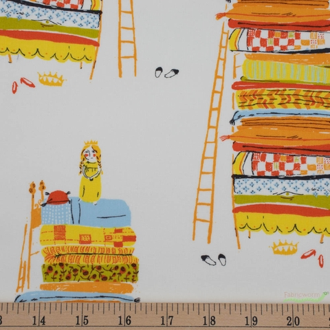 Heather Ross, 20th Anniversary Fabric Collection, Princess And The Pea Yellow