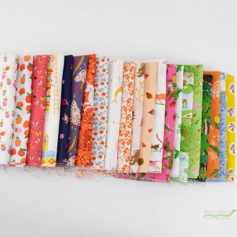Heather Ross, 20th Anniversary Fabric, Entire Collection Bundle 21 Total