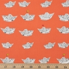Heather Ross for Windham, Far Far Away 2, Newspaper Boats Red Orange