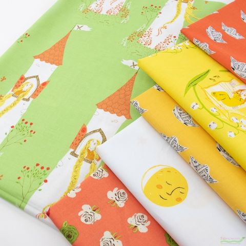 Heather Ross for Windham, Far Far Away 2, Noon Naptime in FAT QUARTERS 6 Total