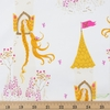 Heather Ross for Windham, Far Far Away 2, Rapunzel White Fat Quarter