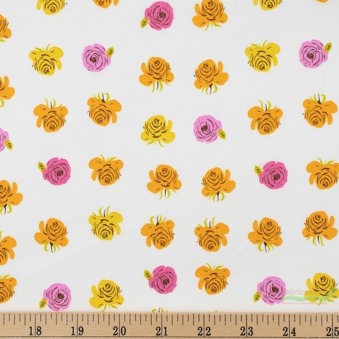 Heather Ross for Windham, Far Far Away 2, Roses Pink Fat Quarter