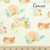 Heather Ross for Windham, Malibu Canvas, Coral Blue Coral