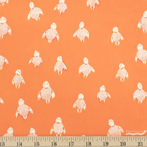Heather Ross for Windham, Malibu, Sea Turtles Orange