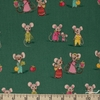 Heather Ross for Windham, Trixie, Country Mouse City Mouse Dark Green