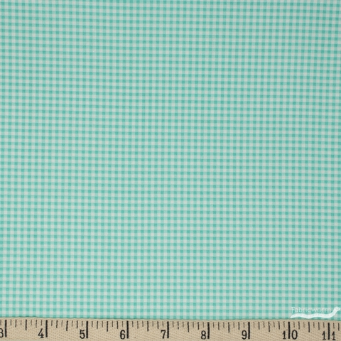 Heather Ross for Windham, Trixie, Gingham Aqua