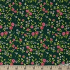 Heather Ross for Windham, Trixie, Mousies Floral Dark Green