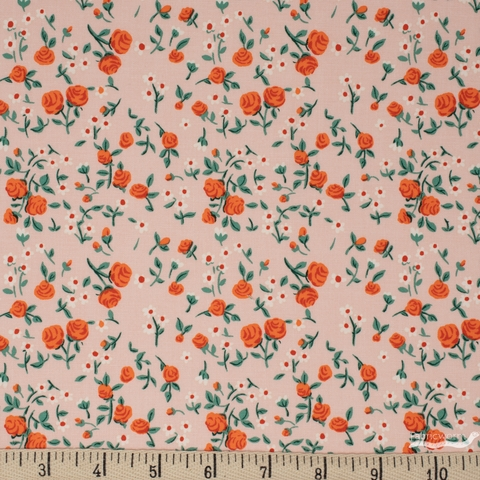 Heather Ross for Windham, Trixie, Mousies Floral Peach