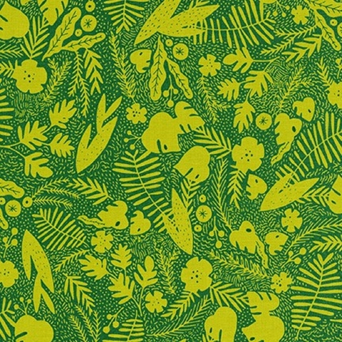 Hello! Lucky for Robert Kaufman, Wild and Free, Foliage Fern