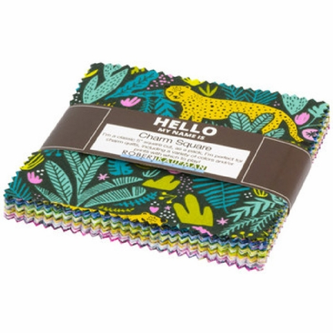 Hello! Lucky for Robert Kaufman, Wild and Free, Pre-Cut Charm Pack