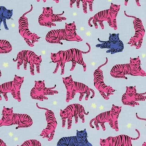 Hello! Lucky for Robert Kaufman, Wild and Free, Tigers Hot Pink