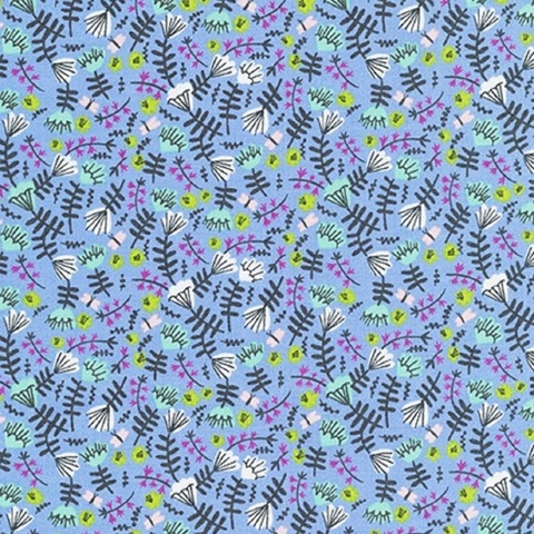 Hello! Lucky for Robert Kaufman, Wild and Free, Wildflower Periwinkle