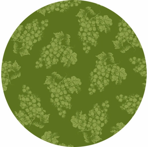 Henry Glass, Vintage, Tonal Grapes Green