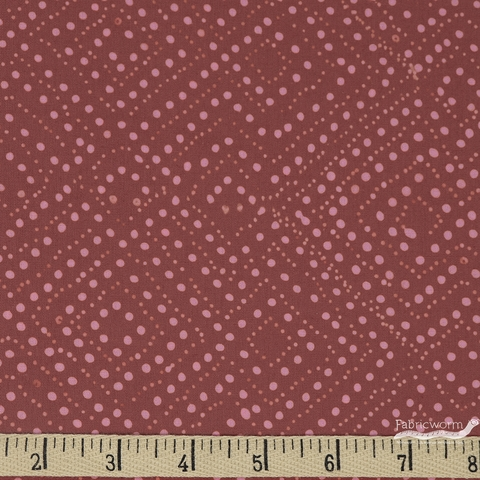 Hoffman Fabrics, Hand Dyed Batiks Fall 2018, Diamond Dots Wild Rose