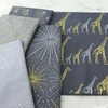 Hoffman Fabrics, Sparkle and Fade Metallic, Family Lines Charcoal
