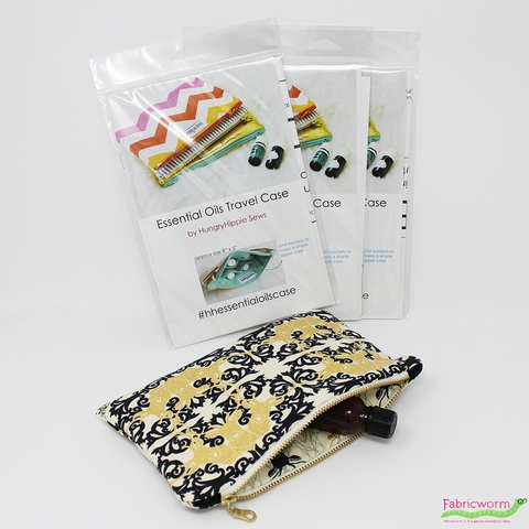 HungryHippie Sews, Sewing Pattern, Essential Oils Travel Cases