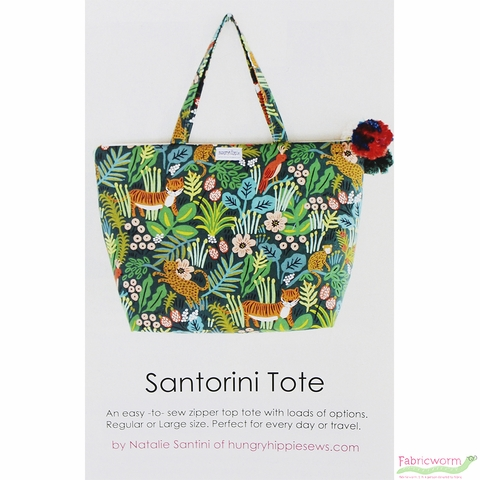 HungryHippie Sews, Sewing Pattern, Santorini Tote