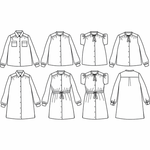 Ikatee, Sewing Patterns, Alex Blouse or Dress (3-12 years)
