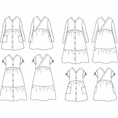 Ikatee, Sewing Patterns, Anna Dress