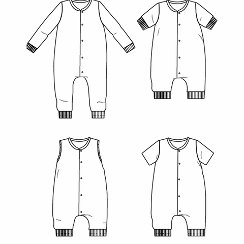 Ikatee, Sewing Patterns, Gaby Jumpsuit (3-12 years)