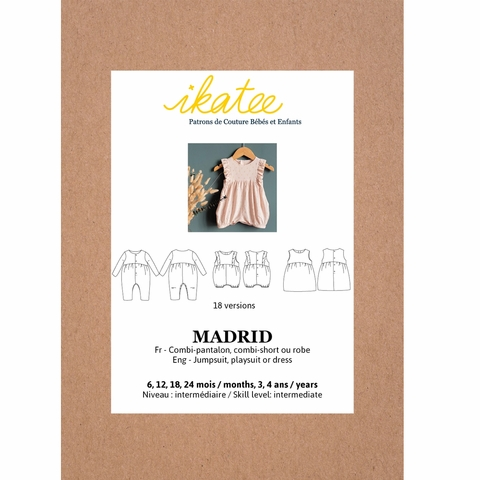 Ikatee, Sewing Patterns, Madrid Jumpsuit/Playsuit