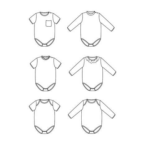 Ikatee, Sewing Patterns, Malmo Bodysuit (1 month-4 years)