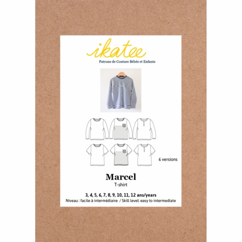 Ikatee, Sewing Patterns, Marcel T-Shirts (3 - 12 years)