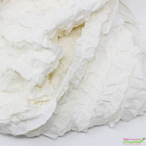 Imported Woven, Pieces of Vintage, Vertical Ruffles Natural