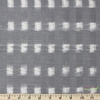 Imported Woven Yarn-Dyes, Dakota, Ikat Squares Grey Cream