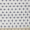 Imported Woven Yarn-Dyes, Dakota, Ikat Star Cream Navy