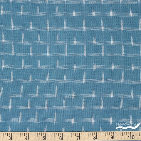 Imported Woven Yarn-Dyes, Dakota, Ikat Star Seafoam