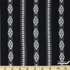 Imported Woven Yarn-Dyes, Durango Dobby, Diamond Black White